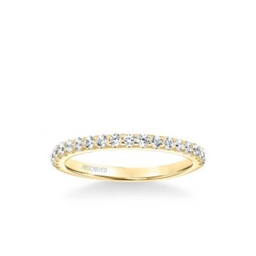 ArtCarved Lenore Classic Diamond Wedding Band in 18k Yellow Gold