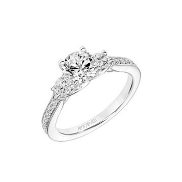 ArtCarved 3 Stone Diamond Engagement Ring