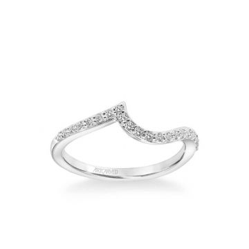 ArtCarved Sierra Contemporary Diamond Curve Wedding Band in 14k White Gold
