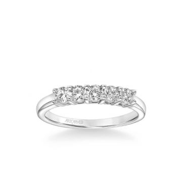 ArtCarved Five Stone Anniversary Band 1/3 ctw in 14k White Gold