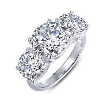 Lafonn Three-Stone Engagement Ring