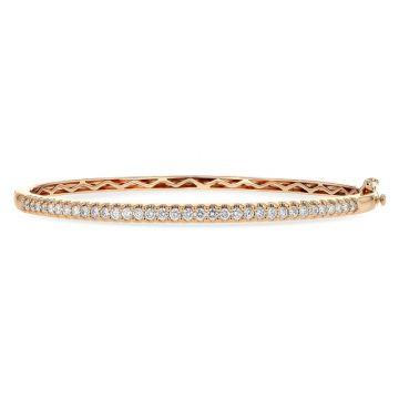 Allison Kaufman 14k Rose Gold Diamond Bangle Bracelet