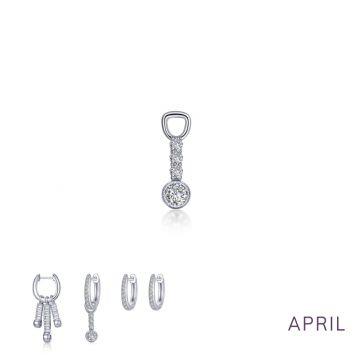 Lafonn April Birthstone Earring Charm
