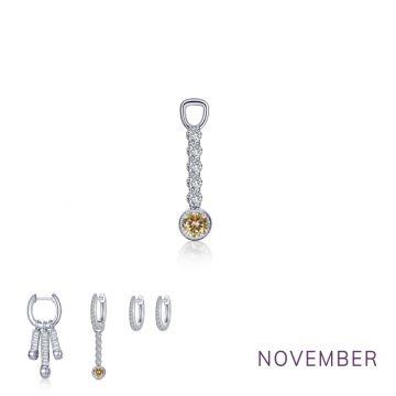 Lafonn Nov Birthstone Earring Charm