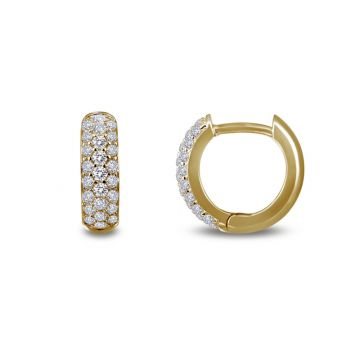 Lafonn Classic Yellow Sterling Silver Diamond Huggie Earrings
