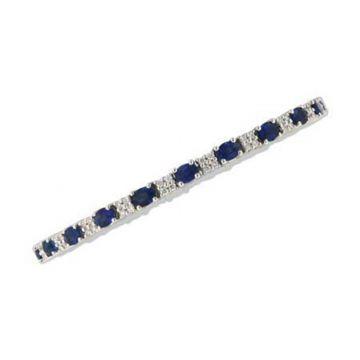 Allison Kaufman 14k White Gold Gemstone & Diamond Bracelet