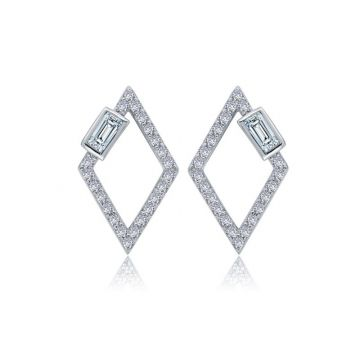 Lafonn Open Diamond Shaped Earrings