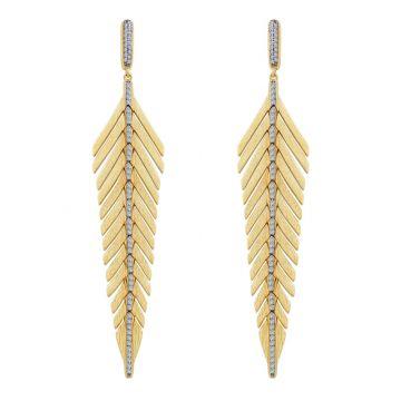 Lafonn Mixed-Color Feather Drop Earrings