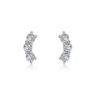 Lafonn 3-Stone Stud Earrings