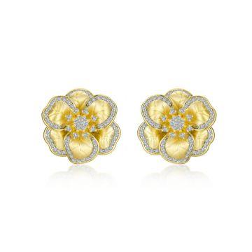 Lafonn Mixed-Color Flower Stud Earrings