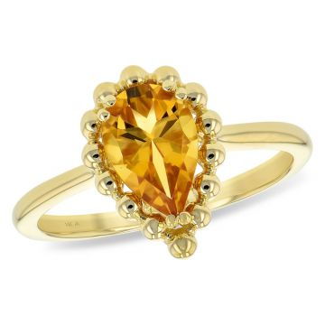 Allison Kaufman 14k Yellow Gold Gemstone Ring