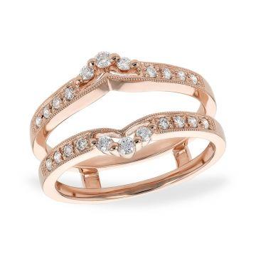 Allison Kaufman 14k Rose Gold Diamond Enhancer Wedding Band