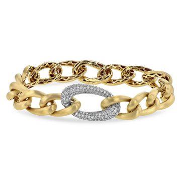 Allison Kaufman Two Tone 14k Gold Diamond Bracelet