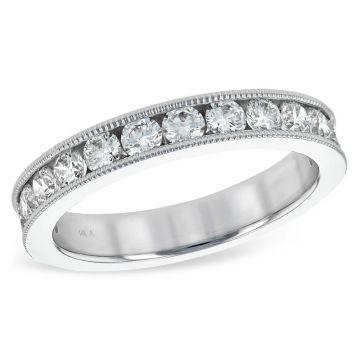 Allison Kaufman 14k White Gold Eternity Wedding Band