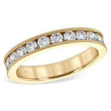 Allison Kaufman 14k Yellow Gold Eternity Wedding Band