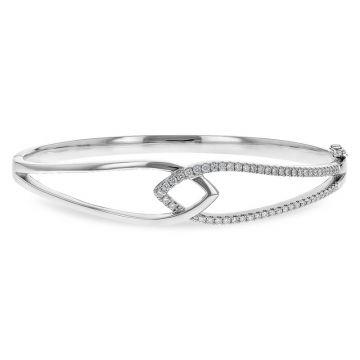 Allison Kaufman 14k White Gold Diamond Bangle Bracelet