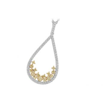 Allison Kaufman Two Tone 14k Gold Diamond Necklace