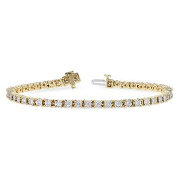 Allison Kaufman 14k Yellow Gold Diamond Tennis Bracelet