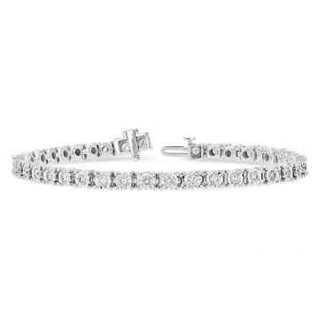Allison Kaufman 14k White Gold Diamond Tennis Bracelet