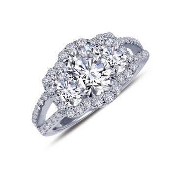 Lafonn Classic Sterling Silver Simulated Diamond Ring