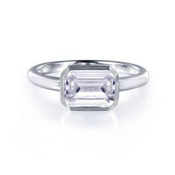 Lafonn Bezel-Set Solitaire Engagement Ring
