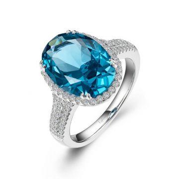 Lafonn Oval Halo Engagement Ring