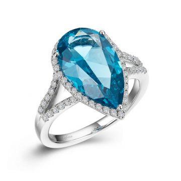 Lafonn Pear-Shaped Halo Engagement Ring