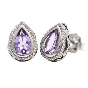 Andrea Candela Sterling Silver Dulce-Baya Gemstone Earrings