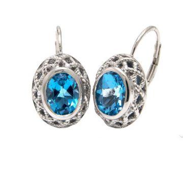 Andrea Candela Sterling Silver Rioja Gemstone Earrings
