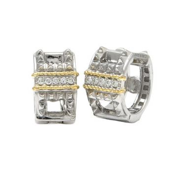 Andrea Candela 18k Yellow Gold and Sterling Silver La Romana Diamond and Gemstone Earrings
