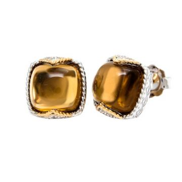 Andrea Candela 18k Yellow Gold and Sterling Silver Dulcitos Diamond and Gemstone Earrings