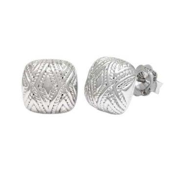 Andrea Candela Sterling Silver Tapiceria Gemstone Stud Earrings