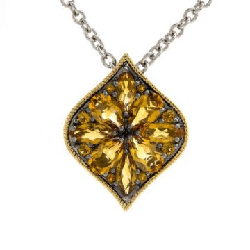 Andrea Candela 18k Yellow Gold and Sterling Silver Vida Gemstone Necklace