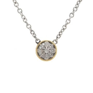 Andrea Candela 18k Yellow Gold and Sterling Silver Andrea II Diamond andGemstone Necklace