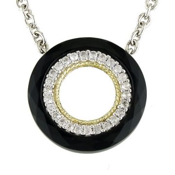 Andrea Candela 18k Yellow Gold and Sterling Silver Lucero Gemstone Necklace