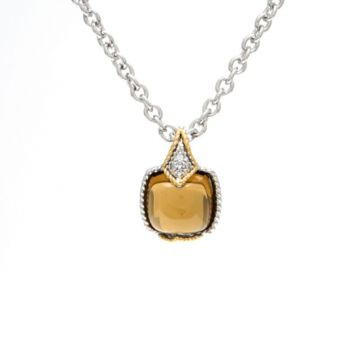 Andrea Candela 18k Yellow Gold and Sterling Silver Dulcitos Diamond and Gemstone Pendant