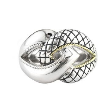 Andrea Candela 18k Yellow Gold and Sterling Silver Conexion Ring