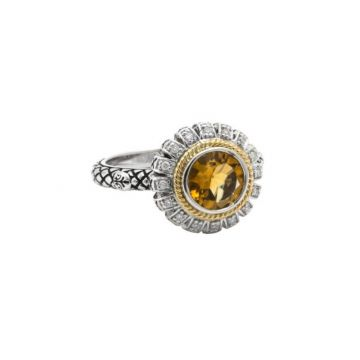 Andrea Candela 18k Yellow Gold and Sterling Silver Lazo De Colores Diamond and Gemstone Ring