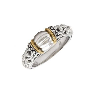 Andrea Candela 18k Yellow Gold and Sterling Silver La Corona Ring