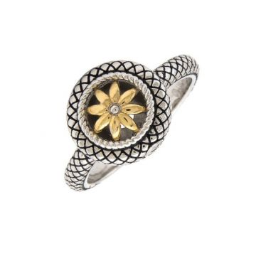 Andrea Candela 18k Yellow Gold and Sterling Silver Enamorada Ring