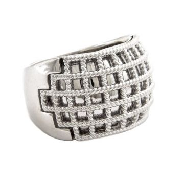Andrea Candela Sterling Silver Geo Ring