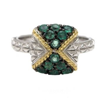 Andrea Candela 18k Yellow Gold and Sterling Silver Tiempo Gemstone Ring