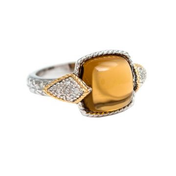 Andrea Candela 18k Yellow Gold and Sterling Silver Dulcitos Diamond and Gemstone Ring