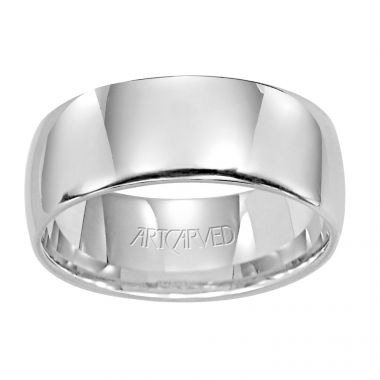 ArtCarved Palladium 8mm Low Dome Comfort Fit Wedding Band