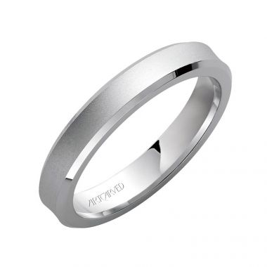 ArtCarved 14k White Gold Ladies Satin Wedding Band