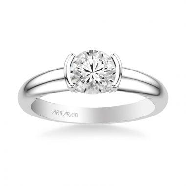 ArtCarved Platinum Rachel Contemporary Solitaire Bezel Diamond Engagement Ring