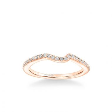 ArtCarved Zola Contemporary Diamond Wedding Band in 18k Rose Gold