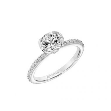 ArtCarved Straight Diamond Engagement Ring