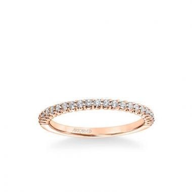 ArtCarved Penny Classic Diamond Wedding Band in 14k Rose Gold