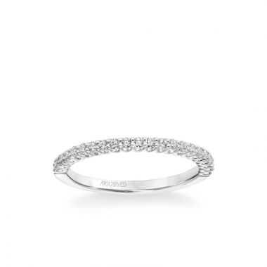 ArtCarved Melissa Classic Diamond Wedding Band in 18k White Gold